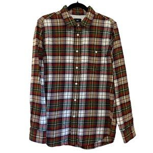 Obey Flannel Button Down Shirt size M